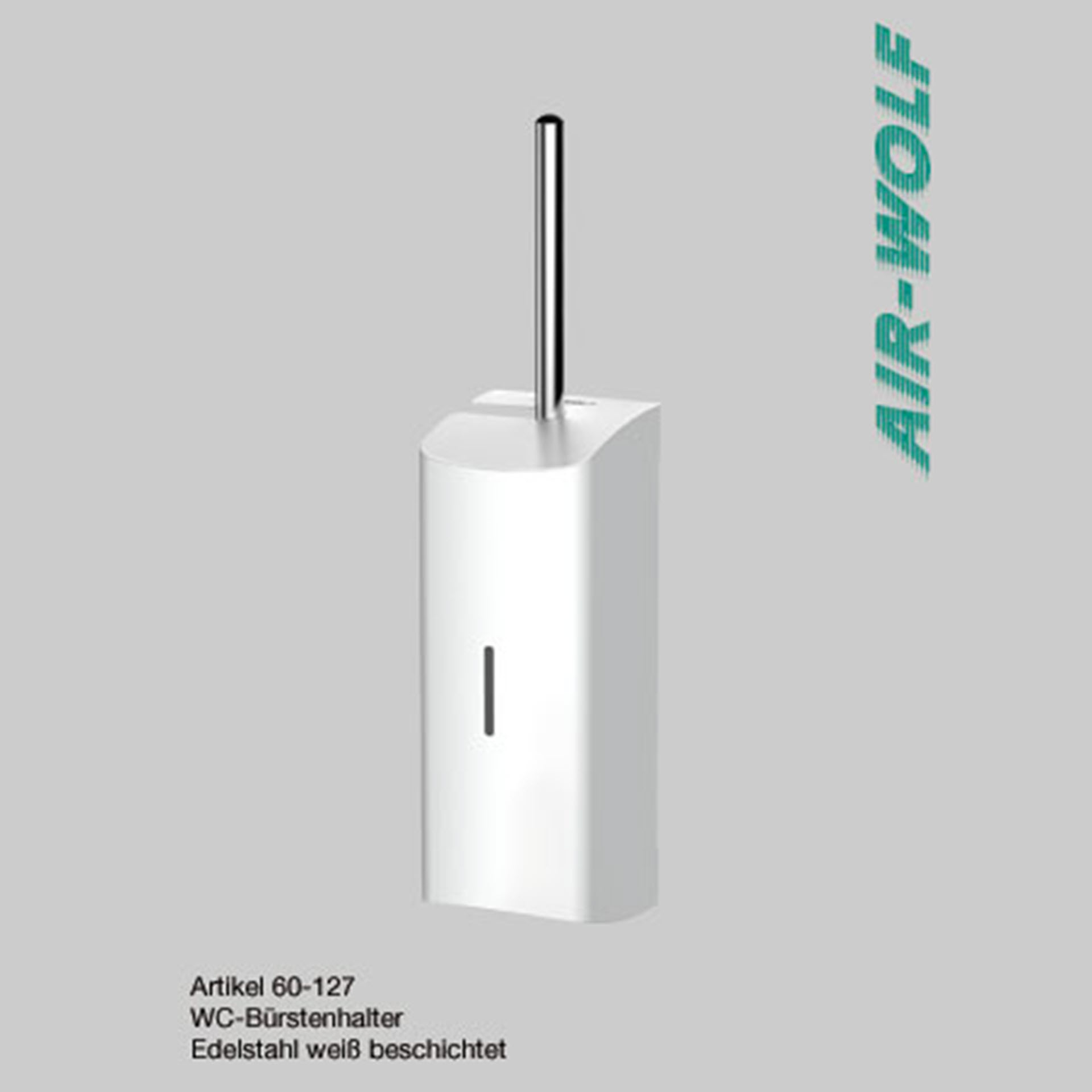 "Air-Wolf WC-Bürstengarnitur Edelstahl - Serie ""Alpha"""
