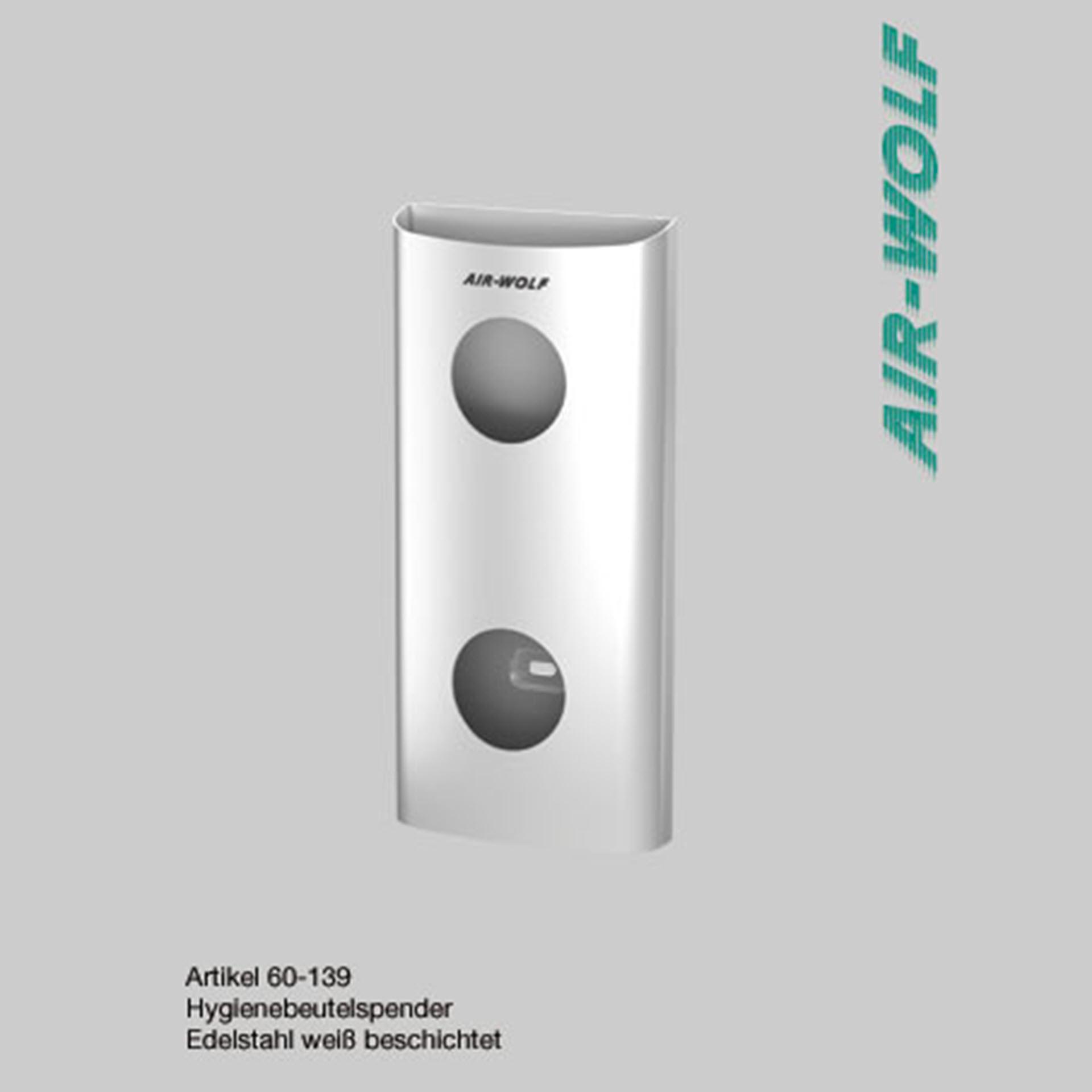 "Air-Wolf Hygienebeutelspender Edelstahl - Serie ""Alpha"""
