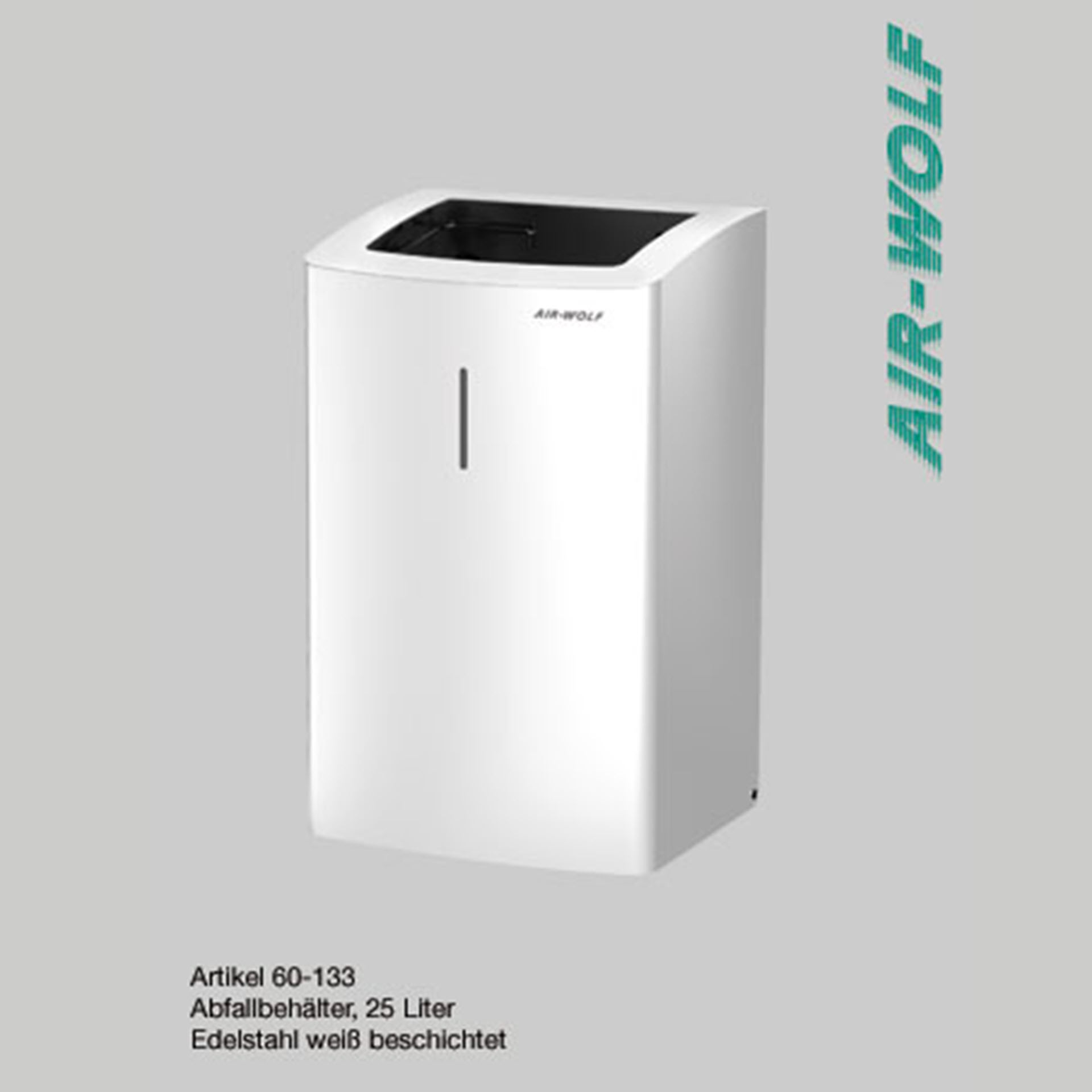 "Air-Wolf Abfallbehälter 25 Liter Edelstahl - Serie ""Alpha"""