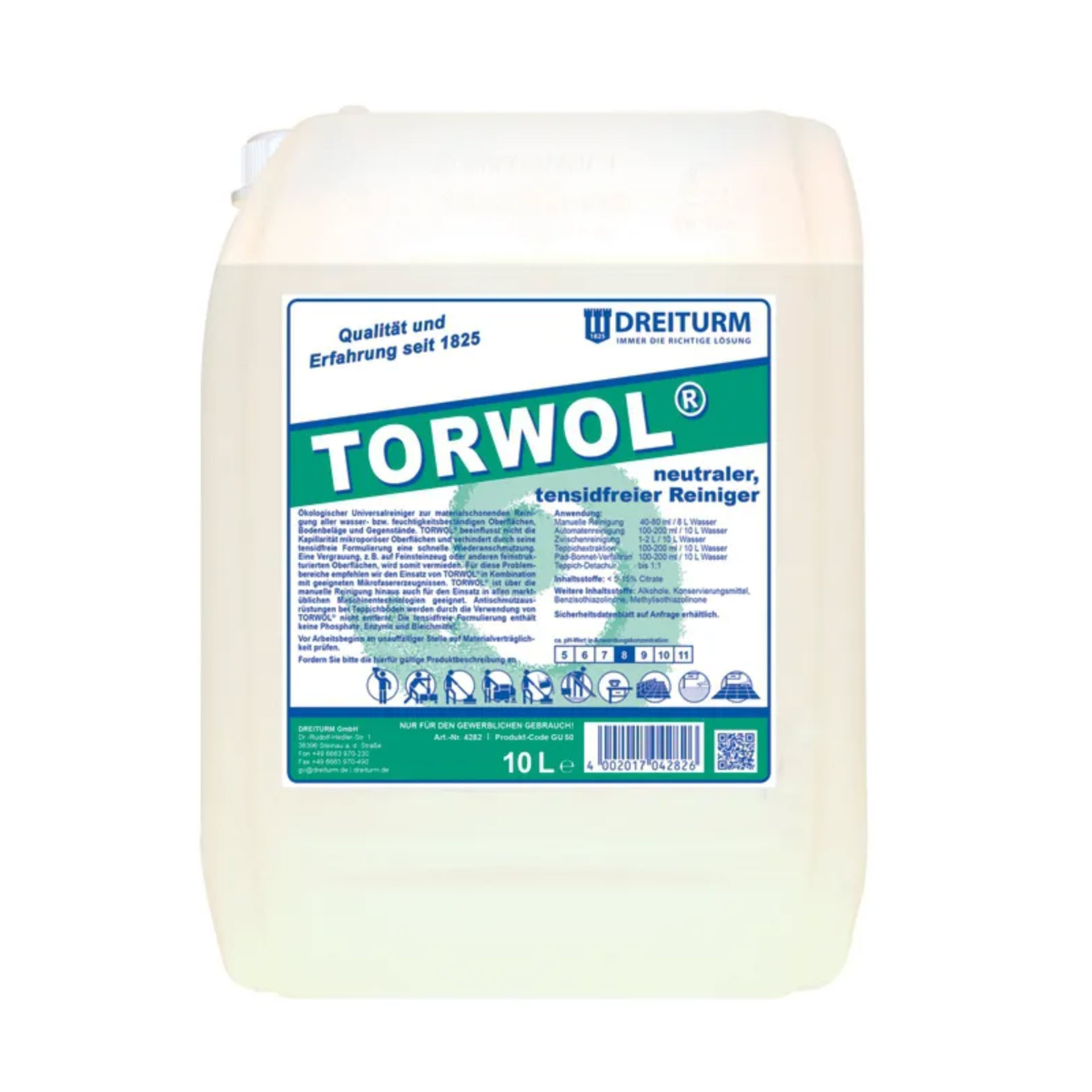 Dreiturm TORWOL®  tensidfreier Universalreiniger - 10 Liter Kanister