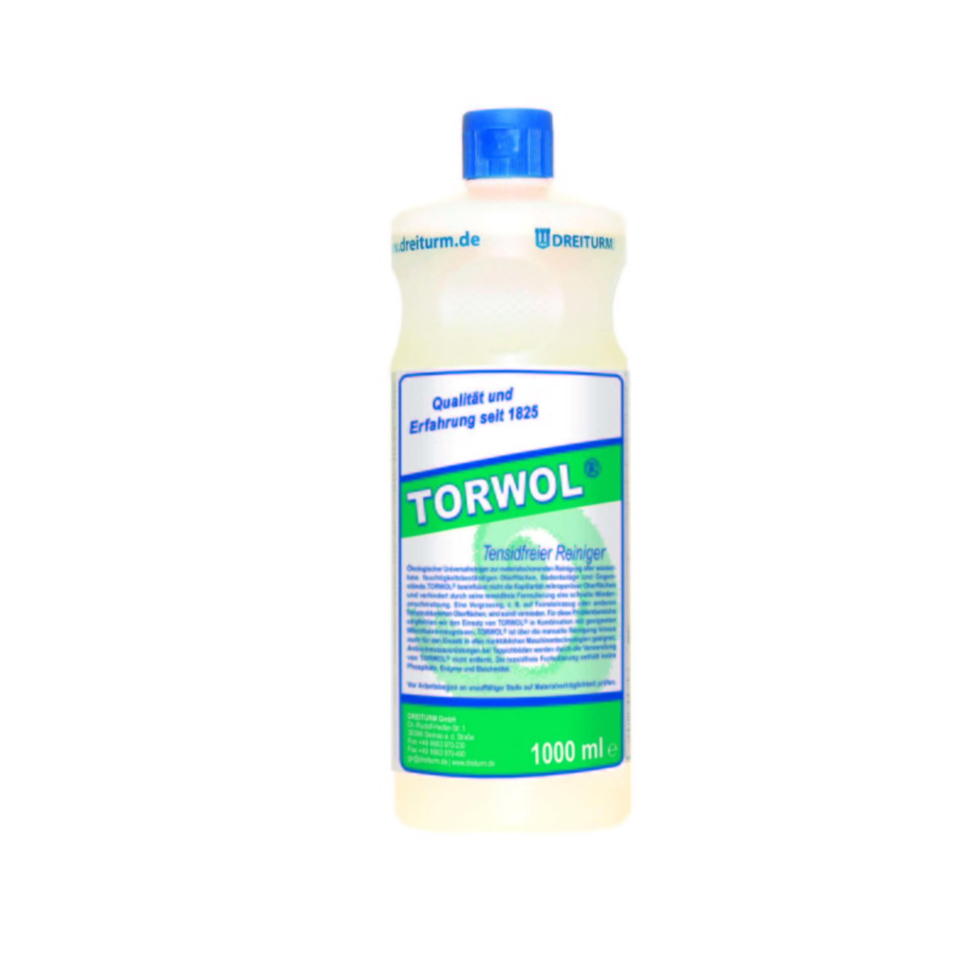 Dreiturm TORWOL®  tensidfreier Universalreiniger - 1 Liter Rundflasche