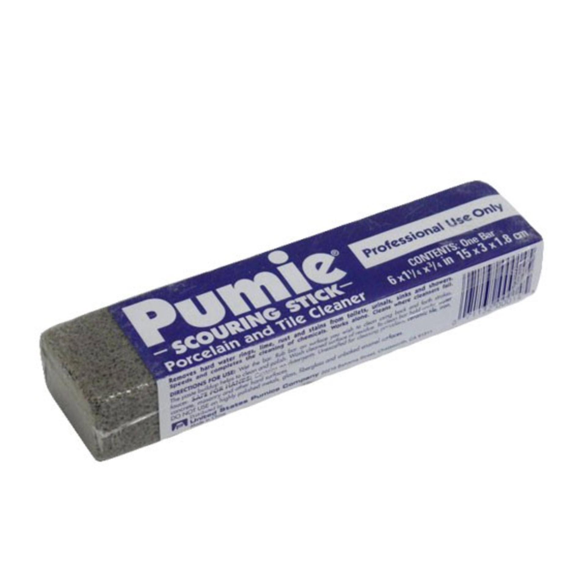 Pumie Scouring Stick Reinigungsstein ca. 100 Gramm für Keramik, Porzellan und Fliesen - ohne Chemie