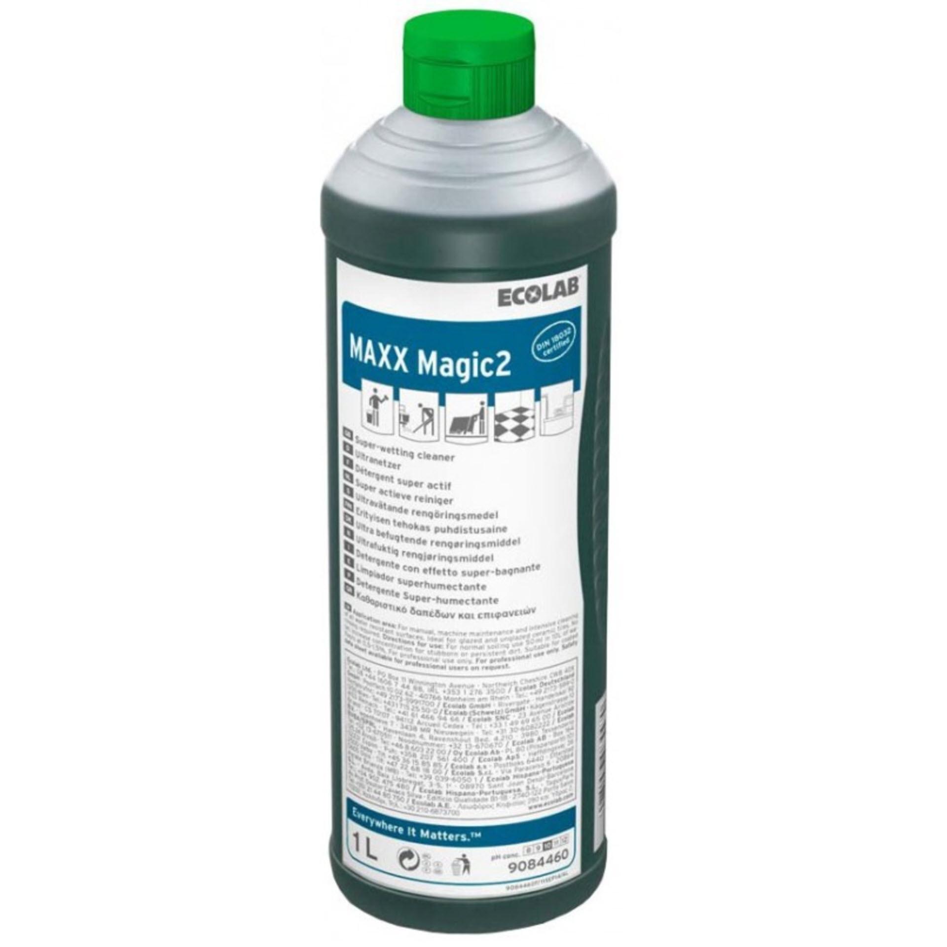 Ecolab MAXX Magic 2 Ultranetzender Universalreiniger - 1 Liter Rundflasche