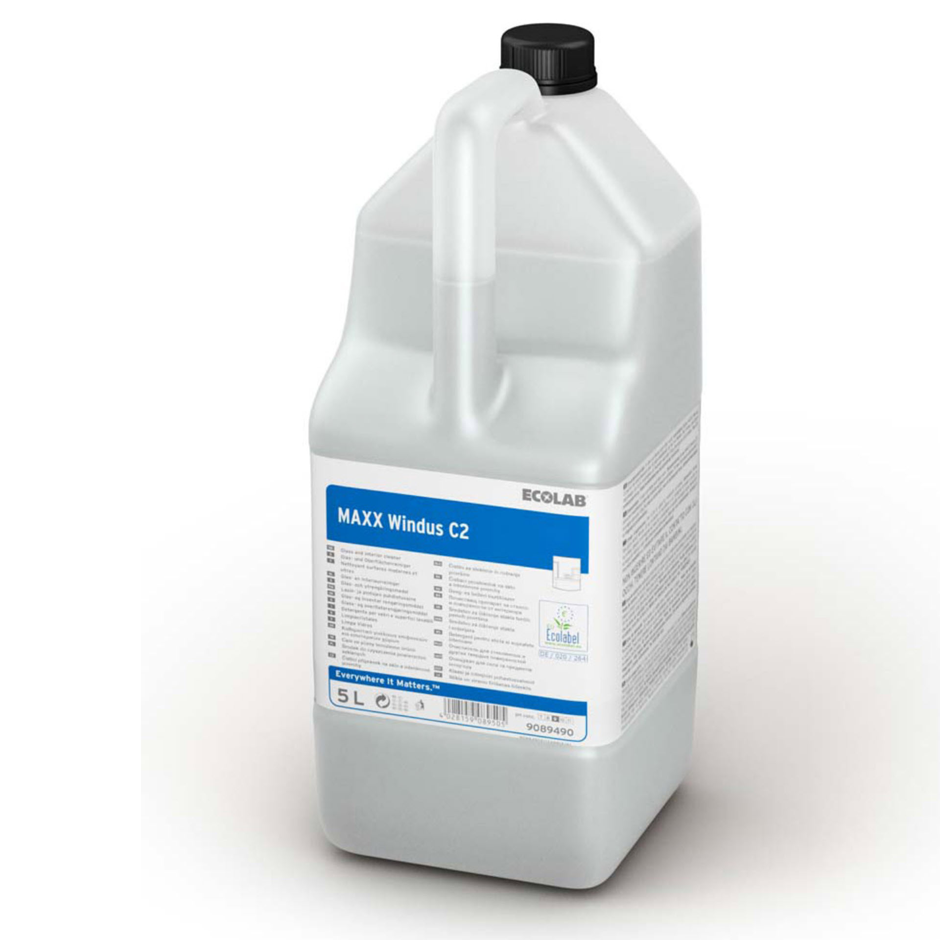 Ecolab MAXX Windus C2 Glas- und Oberflächenreiniger - 5 Liter Kanister