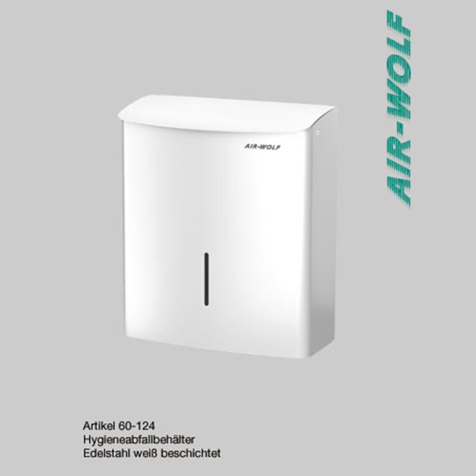 """Air-Wolf Abfallbehälter / Hygieneabfallbehälter 10 Liter Edelstahl - Serie """"Alpha"""""""