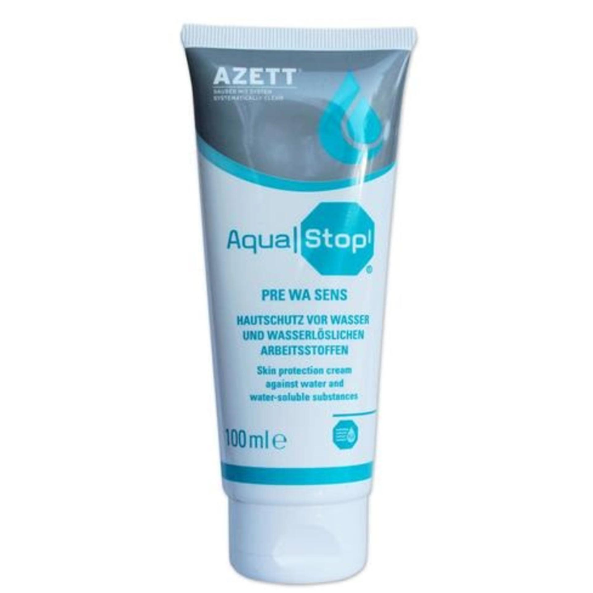 Azett AquaStop / Pre Wa Sens Hautschutzcreme - 100 ml Tube - 915000011