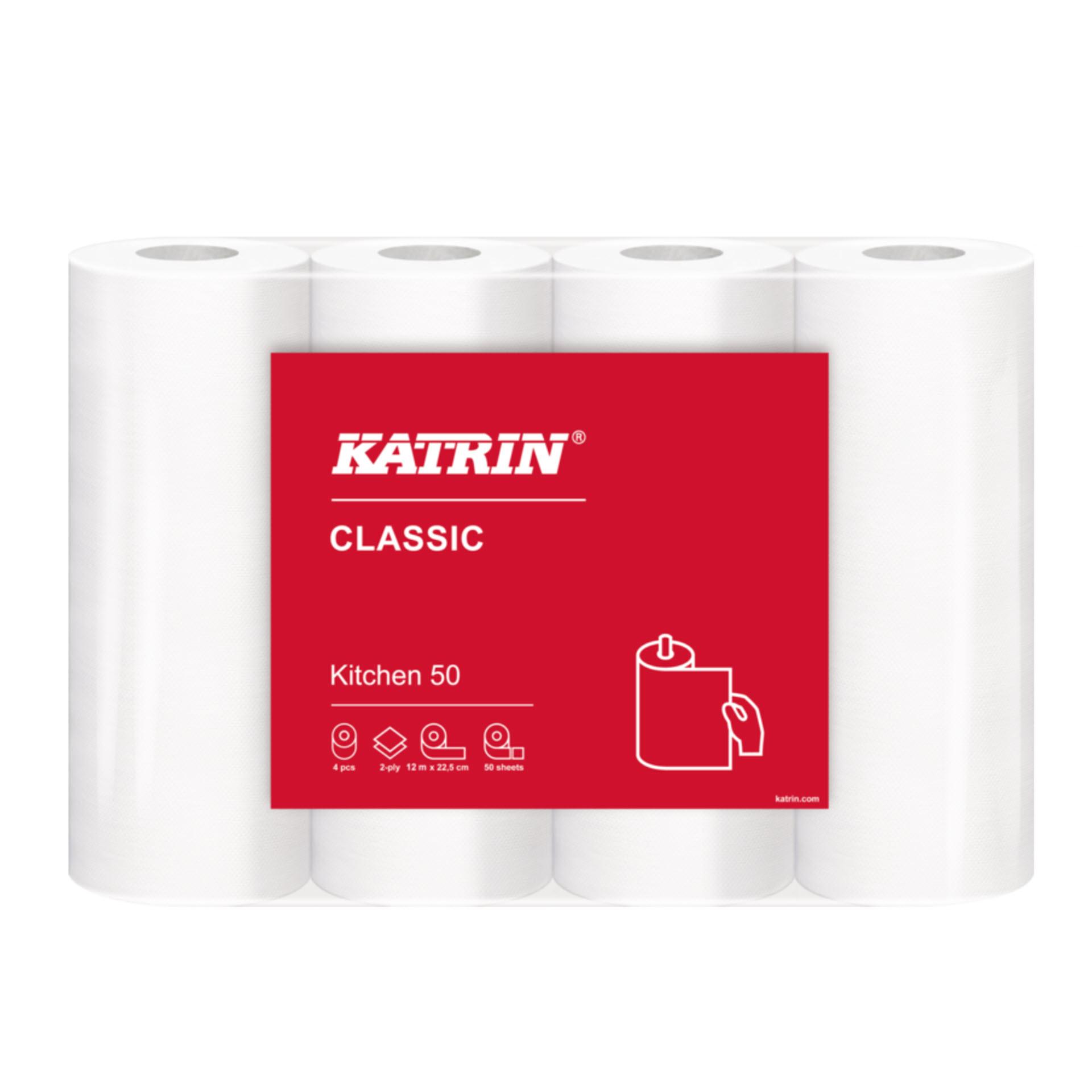 Katrin Classic Kitchen 50 - Küchenrollen - 2-lagig weiß