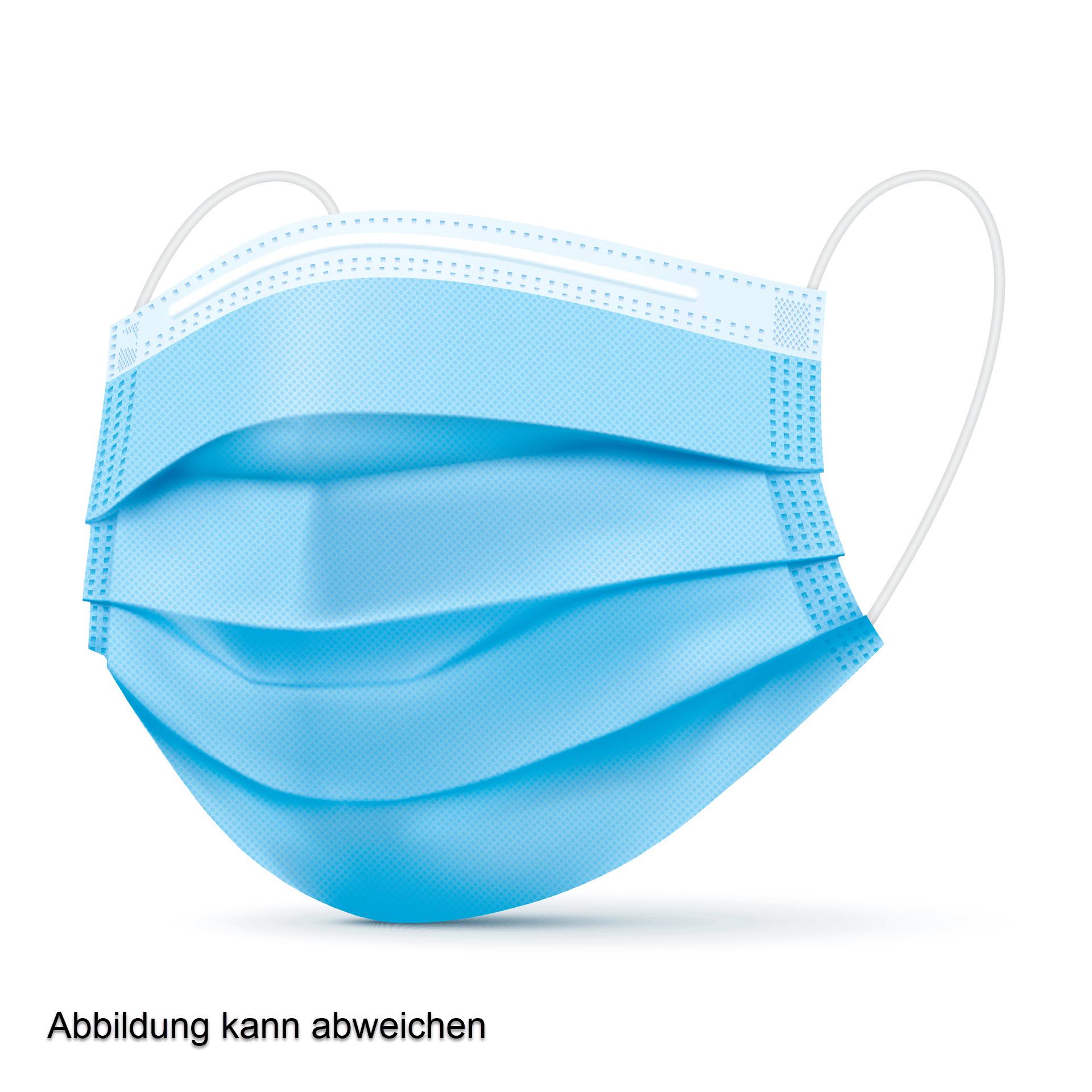 Medizinische OP-Maske / Atemschutzmaske - EN 14683 Typ I - Box mit 50 Stück