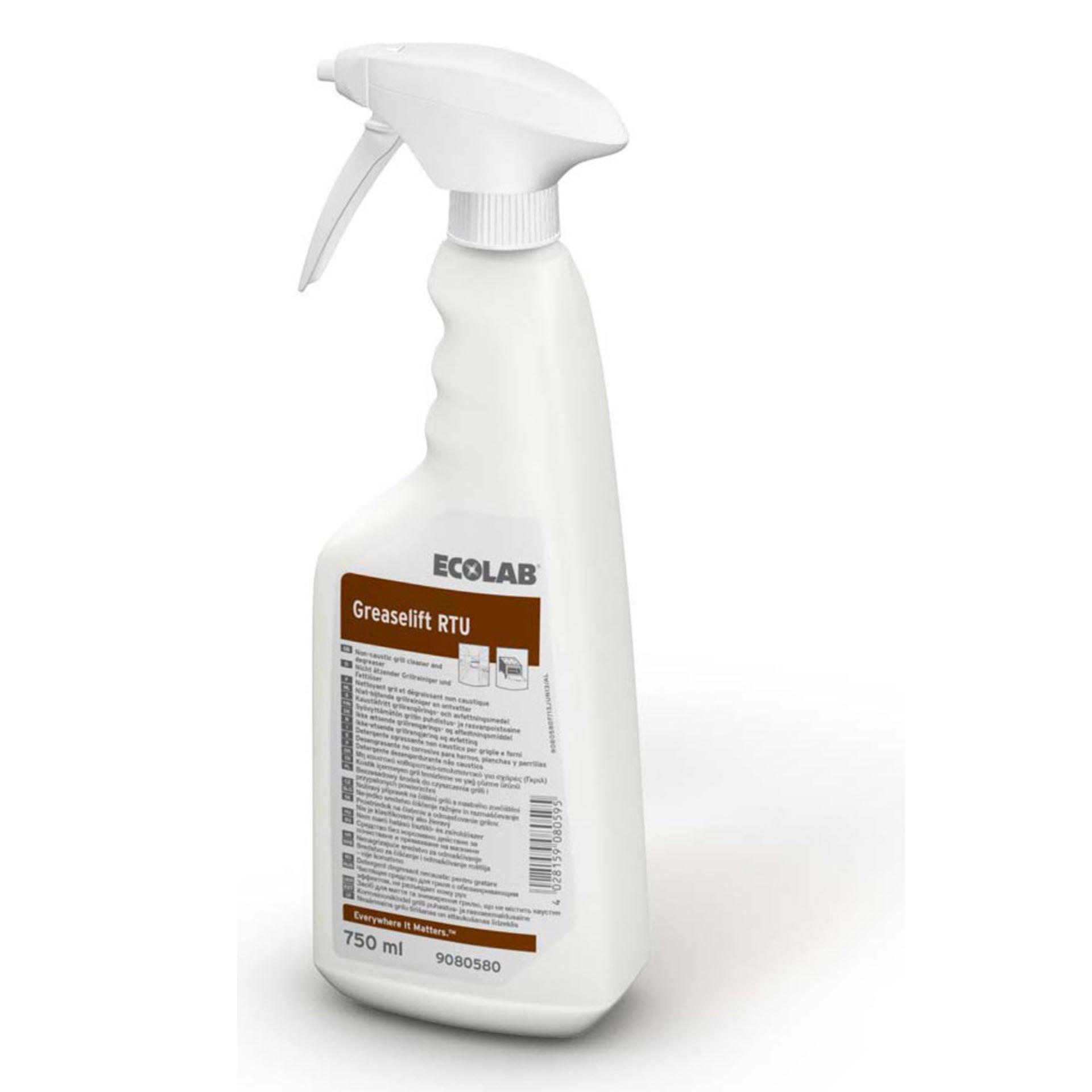 Ecolab Greaselift RTU Fettlöser & Grillreiniger - 750 ml Flasche