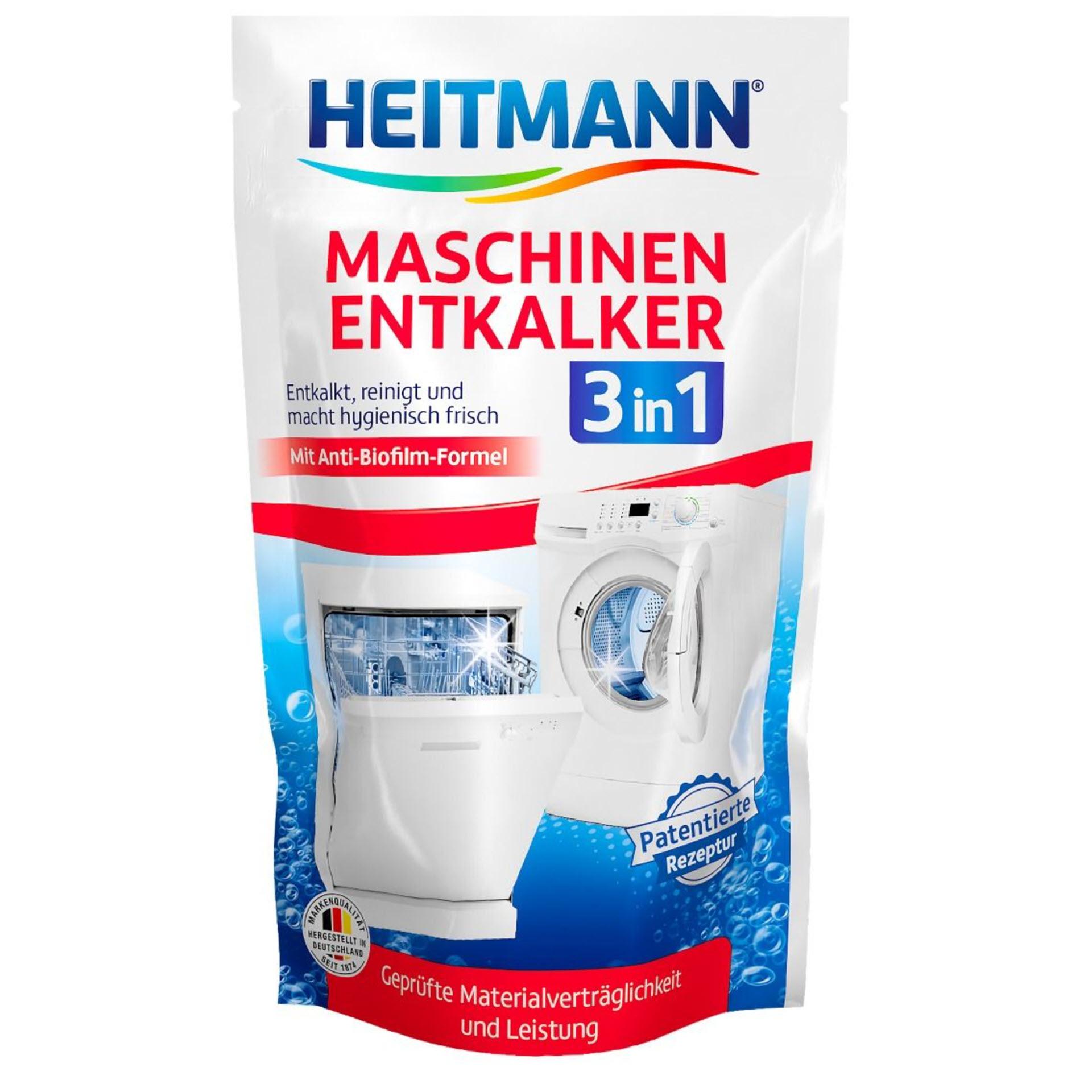 HEITMANN Maschinen-Entkalker 3 in 1 im 175 g Beutel