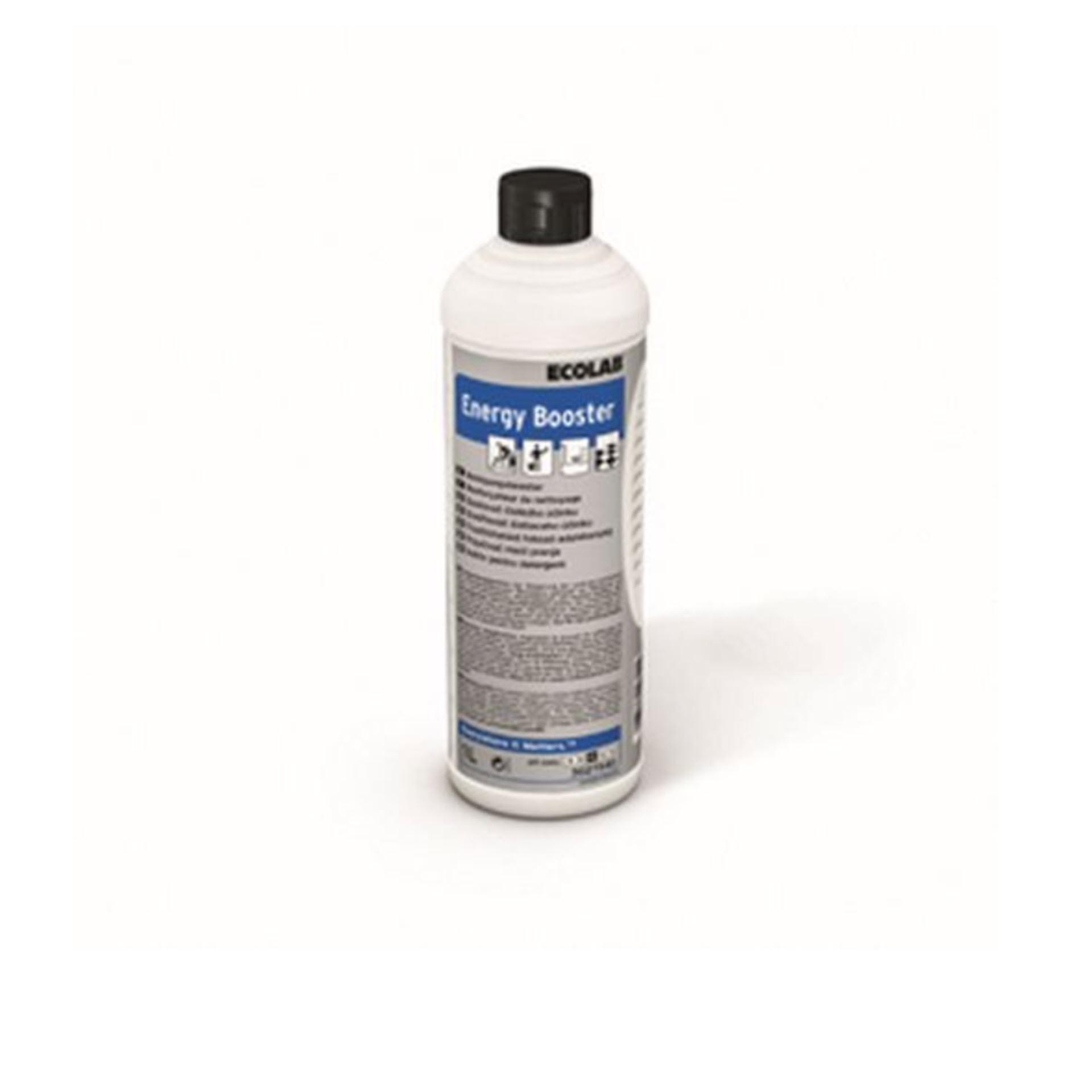 Ecolab ENERGY BOOSTER tensidfreier Reinigungsverstärker - 1 Liter Rundflasche