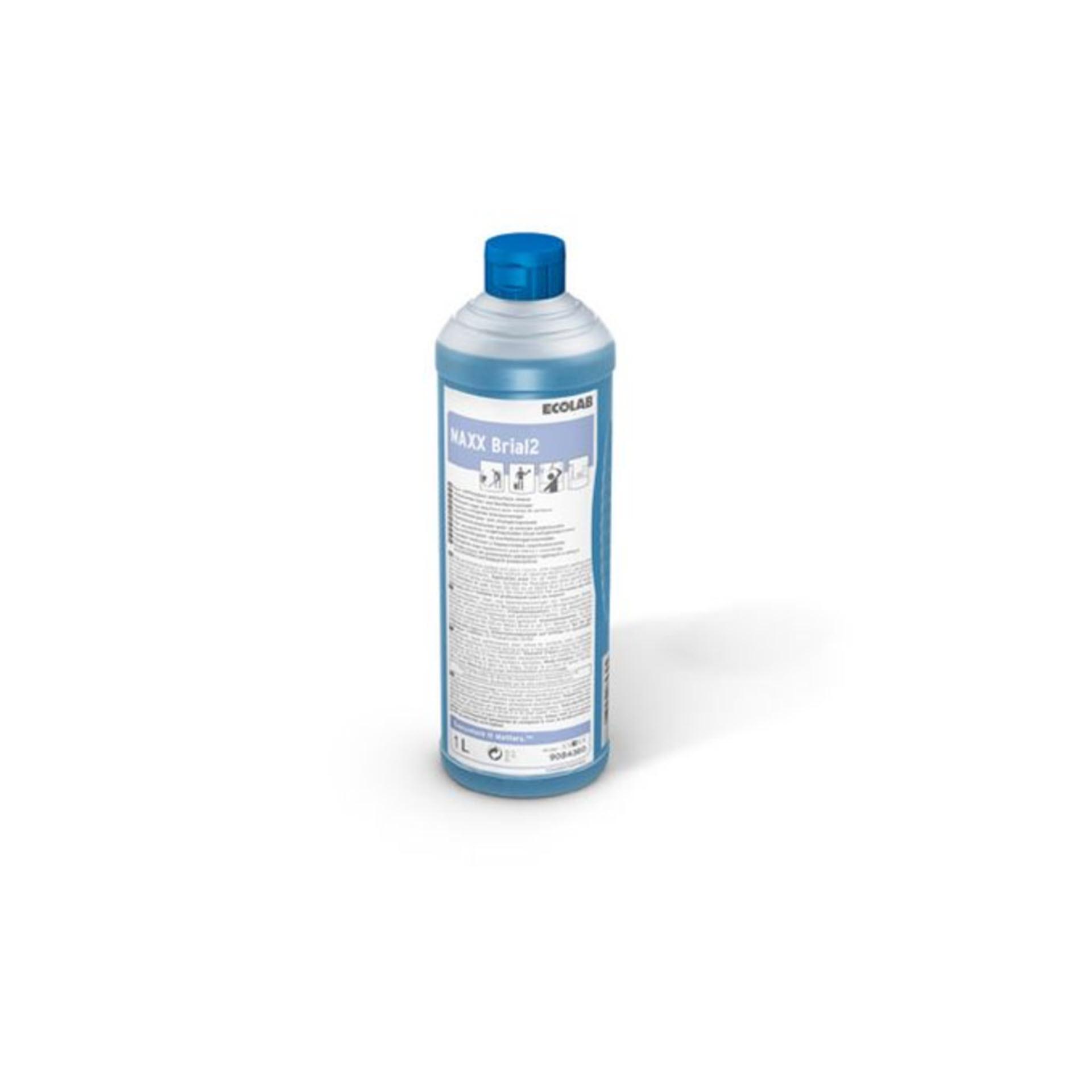 Ecolab MAXX Brial 2  Glas- und Oberflächenreiniger - 1 Liter Rundflasche